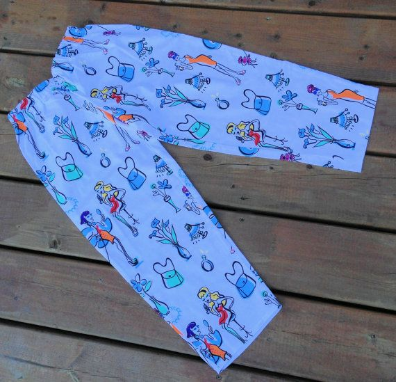 Children's Pyjama  Handmade Flannel Lounge Pants   by Bahde, $28.50