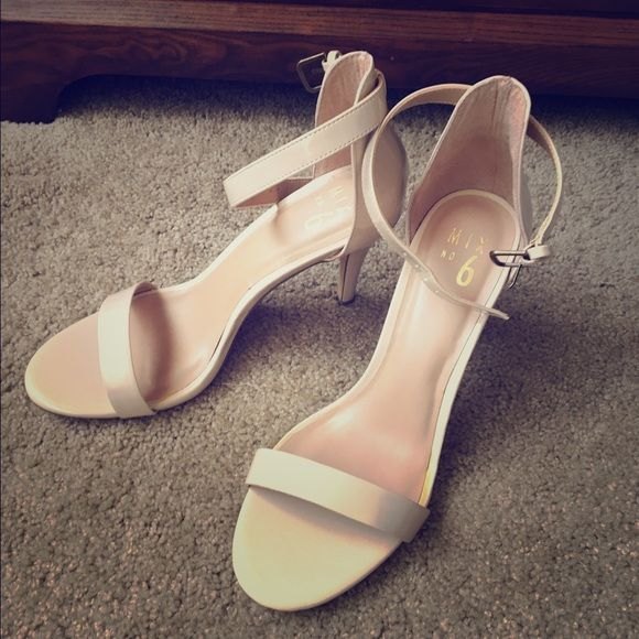 Beige Sandal Heels Strappy beige sandals with a tall heel. Never worn!   Pet owner Non-smoker ✔️ Bundles ✖️ Trades ✖️ PayPal Shoes Heels