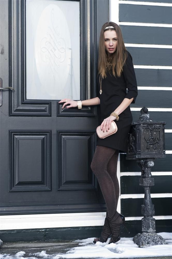 Lurex tights we have to colors available in our shop: black/copper