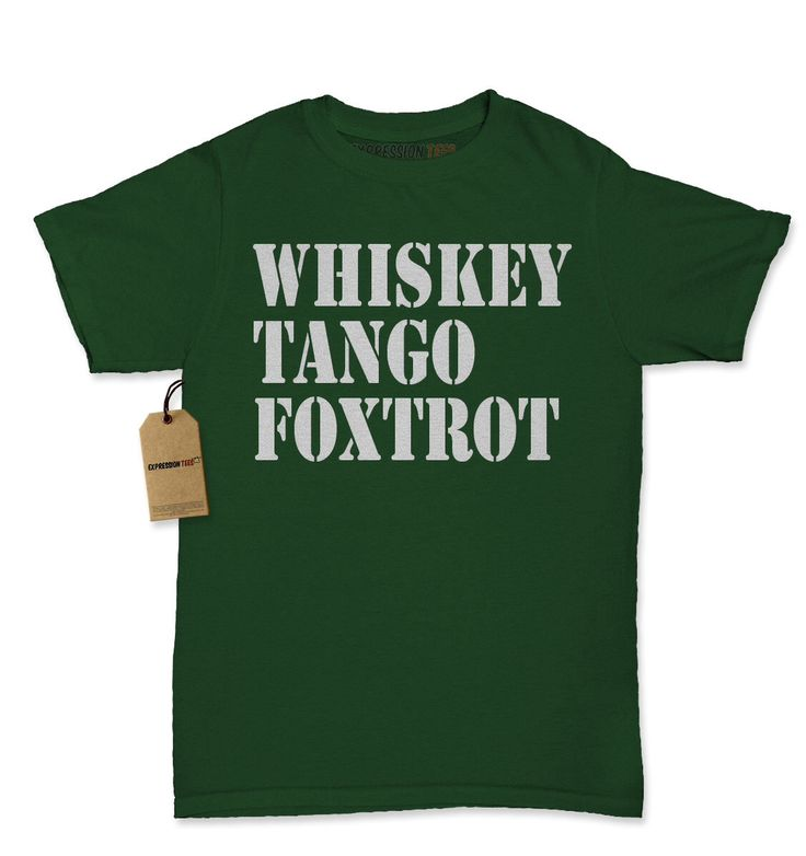 Women's Whisky Tango Foxtrot Shirt Printed WTF Armed Forces T-Shirt #1298 by Expression Tees Trending Clothing / Apparel USA Seller by XpressionTees on Etsy https://www.etsy.com/listing/285979351/womens-whisky-tango-foxtrot-shirt