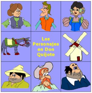 zonaClic - actividades - Personajes del Quijote