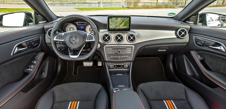 Mercedes Cla 250 4matic Shooting Brake Amg Orange Art Interior