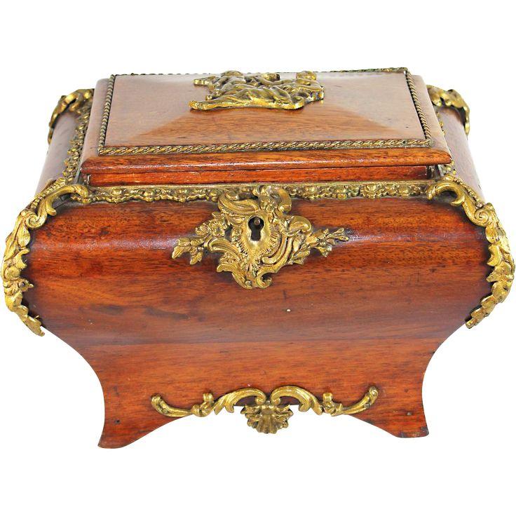 Antique French Louis Xv Jewelry Box Casket Music Box