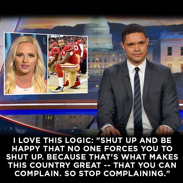 Conservative commentator Tomi Lahren lashes out at NFL star Colin Kaepernick for protesting the national anthem. Watch the entire piece - link in bio.
