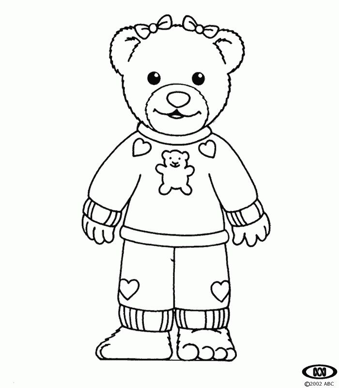pajama theme coloring pages - photo#5