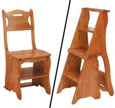 These are so cool; the chair becomes a step stool!