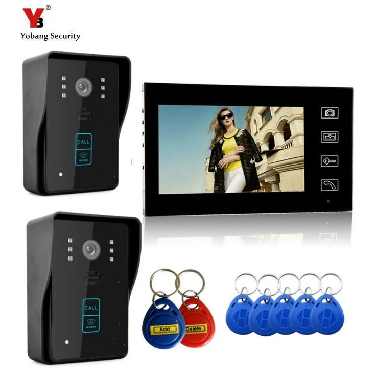 "205.00$  Buy here - ""Yobang Security 7"""" Wireless Video Door Phone Doorbell Intercom IR Camera Monitor RFID Card Reader Access Control Home Intercom ""  #bestbuy"