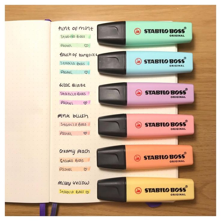 """253 Likes, 6 Comments - Bullet Journal Inspiration (@kittysbulletjournal) on Instagram: """"Hey everyone, these absolutely gorgeous pastel highlights are amazing ! Stabilo Boss Original !…"""""""