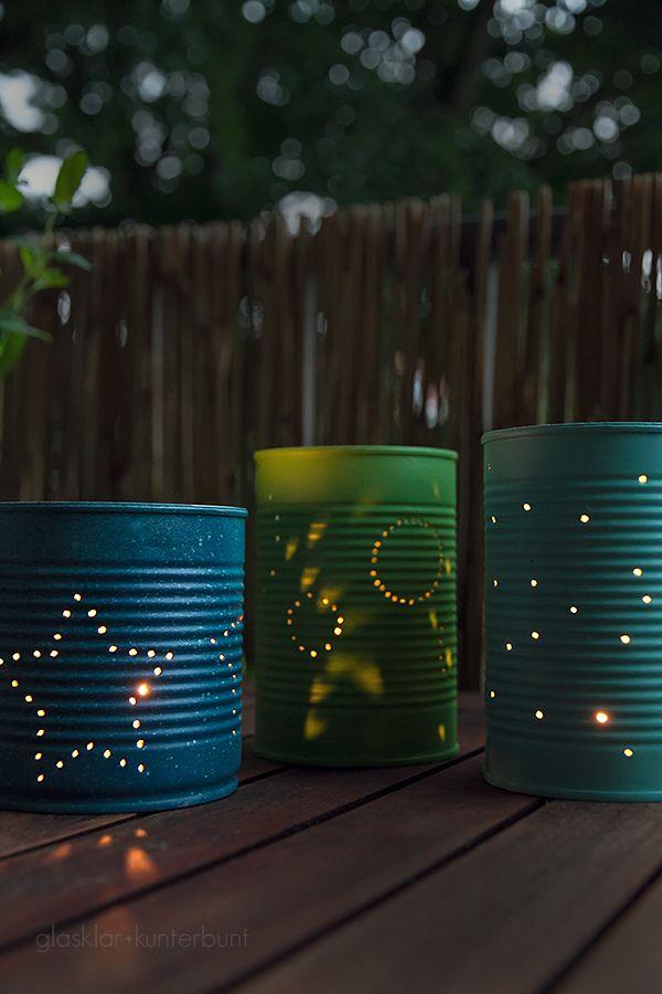 Windlichter aus Konservendosen