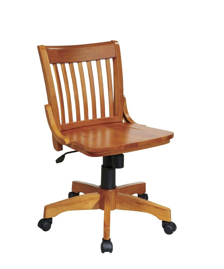 Wood Desk Chair With Wheels