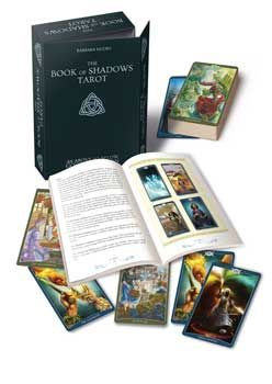 Book of Shadows - Complete Set by B. Moore  The Book of Shadows Tarot is made of two decks: As Above, exploring pagan beliefs and the divine world, and So Below, which explores how beliefs and energies manifest on the material plane. This kit includes both decks and the full color guidebook in a deluxe box with a magnetic closure.