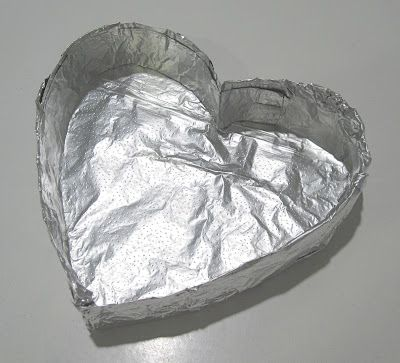 Make your own heart shaped cake pan! So easy!!  Red velvet w/cream cheese filling.