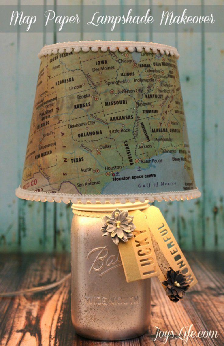 Top 10 Low Cost Diy Home Decor Top Inspired Lampshade Makeover Diy Lamp Diy Lamp Shade