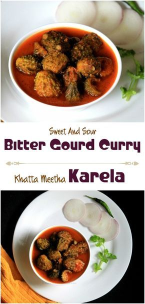 This sweet and sour curry of bitter gourd is prepared with addition of onion and garlic. The sourness of this bitter gourd curry is for the tamarind pulp and sweetness is from jaggery. Basically this is an Andhra cuisine. This dish is very simple to prepare ad can be an accompaniment for any rice item. This karela dish prepared with tamarind, jaggery and spices is a diabetic friendly recipe as well.