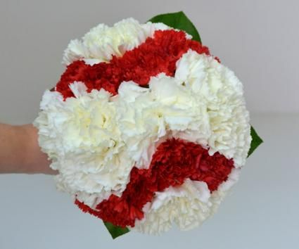 baseball theme wedding gown    Baseball Bridesmaid Bouquet by Gillespie Florists, Inc. / Photo ...