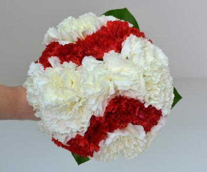 baseball theme wedding gown  | Baseball Bridesmaid Bouquet by Gillespie Florists, Inc. / Photo ...