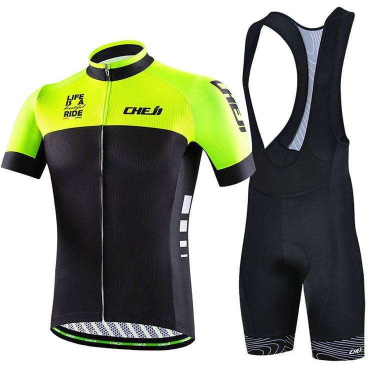 More Styles 2017 Summer Cycling Clothing Sleeved Set Short Sleeve Braces  Men s Bicycle Bike MTB Wear 4bb5d4b25