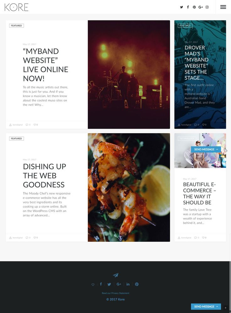 KORE Blog page UI #webpage #responsive #wordpress #webdesign #websitedesign #blog