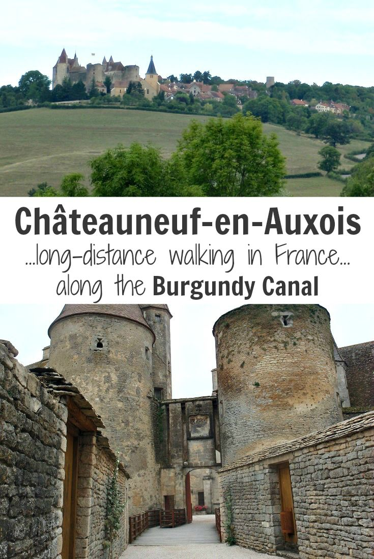 Detour off the Burgundy Canal and explore Châteauneuf-en-Auxois on a walking holiday in France