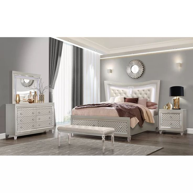 Best Lancaster Standard Configurable Bedroom Set In 2020 With 400 x 300