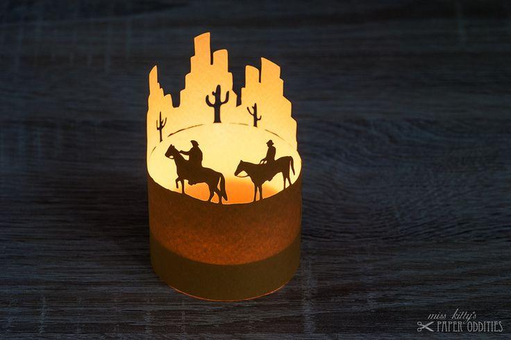 Windlichter - Bastelbogen Windlicht »Wild West« - ein Designerstück von misskittys bei DaWanda