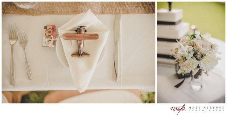 airplane wedding favors Lindsay & Rays Aviation Themed Wedding Edison & Ford Winter Estates designed by @Courtney Shaw: Fabulously Chic Weddings