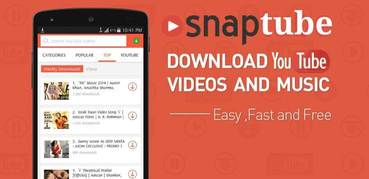 SnapTube - YouTube Downloader HD Video v3.7.1.8187   Miércoles 16 de Diciembre 2015.  Por: Yomar Gonzalez   AndroidfastApk  SnapTube - YouTube Downloader HD Video v3.7.1.8187 Requisitos: 2.1  Información general: SnapTube - Los videos downloader y música más fácil de YouTube. DESCARGAR EN VARIAS RESOLUCIONES Videos MP4 están disponibles en las resoluciones: elegir el pequeño tamaño de 360 píxeles o la alta definición de 720 píxeles. DESCARGAS MP3 DIRECTOS Descargar cualquier video musical de…