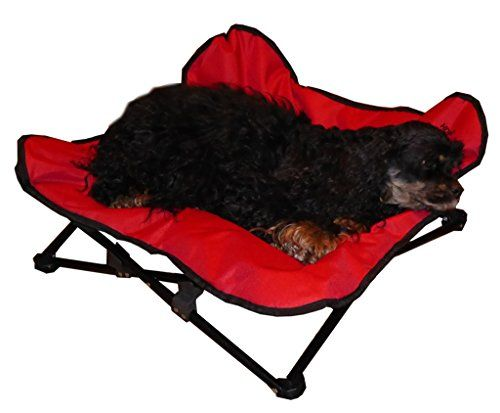 HDP Elevated Napper Pet Bed Color:Red HDP