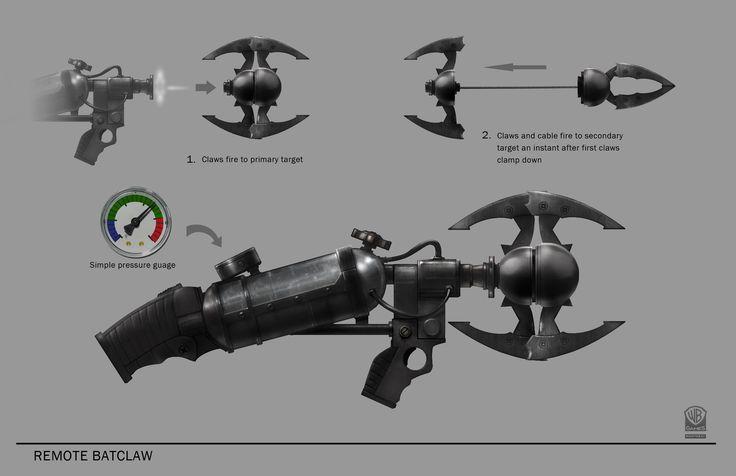 how to make the batman suit in arkham knights blueprints | Batman_Arkham_Origins_Concept_Art_MH_remote_batclaw_concept_page021