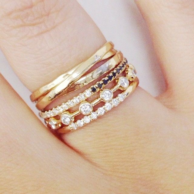 Cute & Dainty Vale Jewelry Stackable Gold Rings