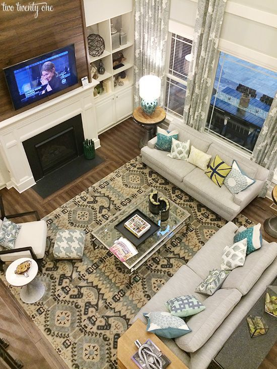 14 best images about two story great room on pinterest for Large living room design layout