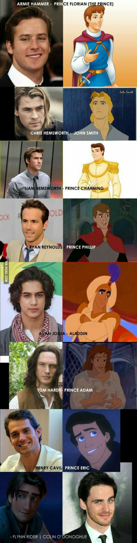 Everyone posting casts for Disney Princesses, so now I'm posting a cast for Disney Male Characters.