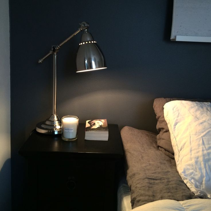 My bedroom! New gray paint on one wall :)