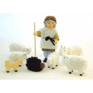 Shepherd and sheep set:  for Parable of the Lost Sheep Luke 15: 1-7 or 23rd Psalm.