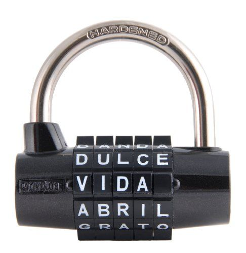 wordlock pl 028 bk 5 letter combination spanish language padlock black wordlock breakout edu resources pinterest spanish language and spanish