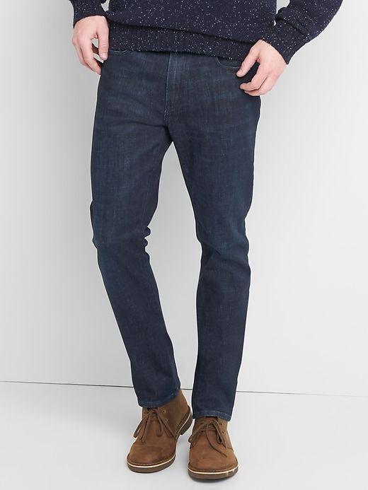 Gap Mens Thermolite® Skinny Fit Jeans (Stretch) Dark Indigo
