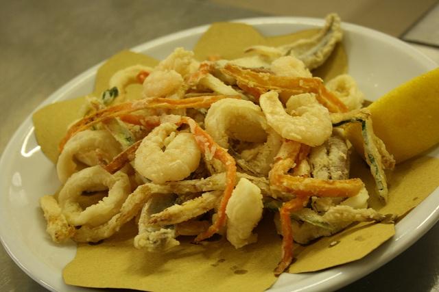 Fried seafood & vegetable, Hotel Nizza, Rimini, IT, via Flickr