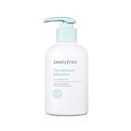 Innisfree The Minimum Baby Lotion 300ml    Features  Baby skin care line to give weak baby mild formula for gentle use on baby's skin. Gentle baby lotion to give weak baby skin moisture protection. Nature derived ingredients 92.5% and 13 kinds of ingredie