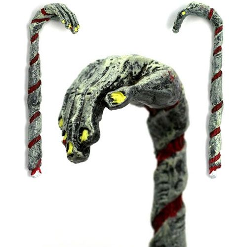 zombie christmas  | ... the case with this handcrafted Zombie Candy Cane Christmas Ornament