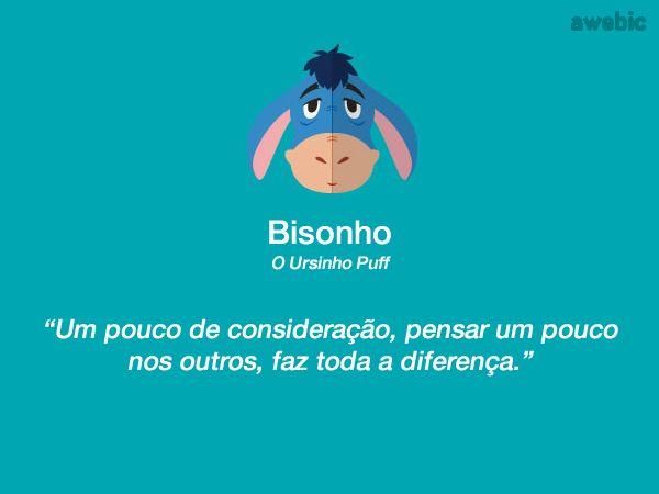 Citação #Bisonho #UrsinhoPuff:
