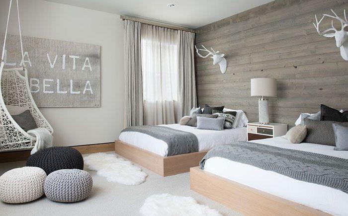 Спальня в  цветах:   Белый, Желтый, Светло-серый, Серый.  Спальня в  стиле…