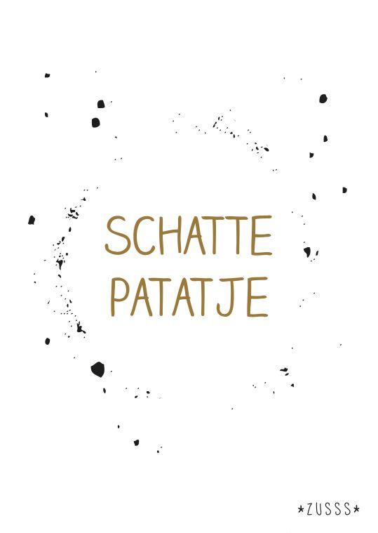 Zusss l Schattepatatje l http://www.zusss.nl/product/kaart-schattepatatje/