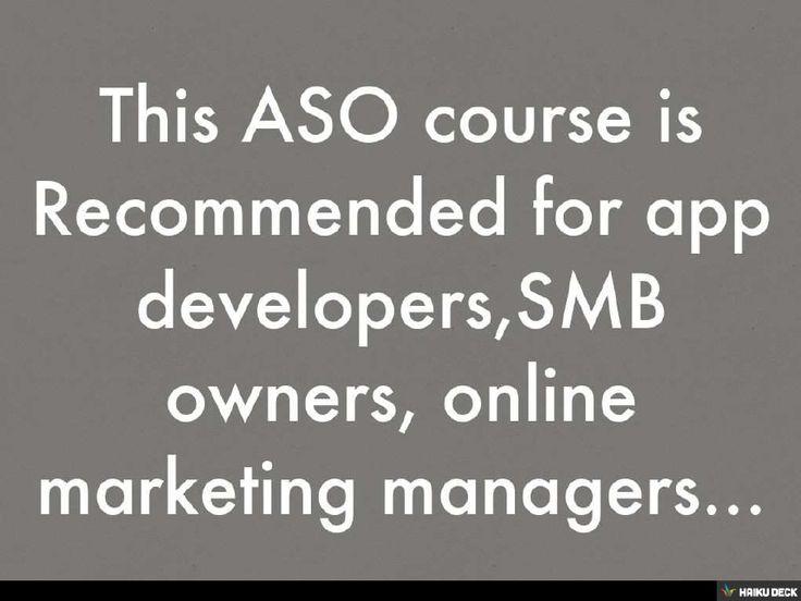 ASO Training Guideline - #Academia.edu
