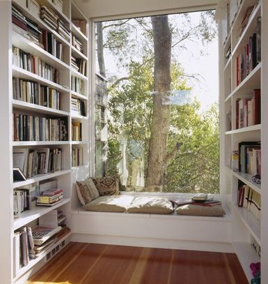 perfect...Reading Area, Home Libraries, Dreams, Windows Seats, Book Nooks, Reading Corner, Reading Nooks, House, Reading Spots