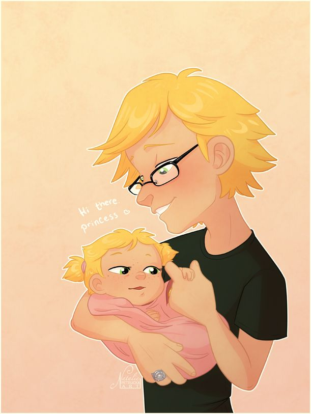 idk I just wanted to draw something sappy, and also for Adrien to use this nickname with his daughter ¯\_(ツ)_/¯