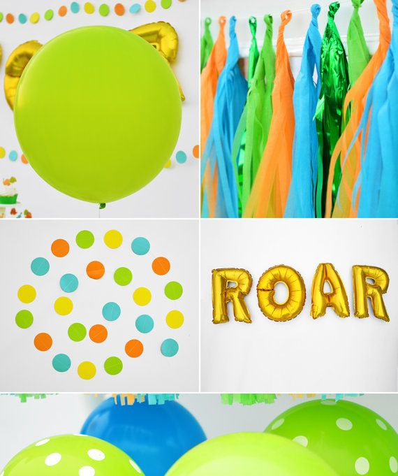 ROAR! Yep, that feels good. If you are looking for some great dinosaur birthday party ideas then you are in the right place. Hunting around like a carnivore for all of your dinosaur party supplies is just prehistoric. Now you can spread the table with the cutest dinosaur birthday party theme, in style and without breaking the bank.  The Bash Kits party planners have laid out some well planned stomping grounds for your little ones next party. The color scheme in this dinosaur birthday party…