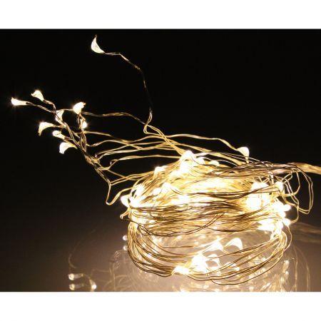 Ghirlanda luminoasa decorativa 10X10 micro LED-uri albe cu luminozitate ridicata lumina calda WELL