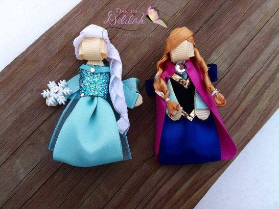 Elsa Ribbon Hair Clip Frozen Hair Clip by DarlingDelilah777 $8