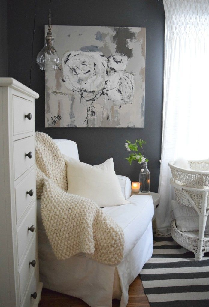 Spring Update and Art Nesting With. Nook in master bedroom for baby. Nesting with Grace