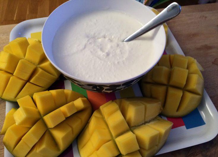Mangodessert med kokos
